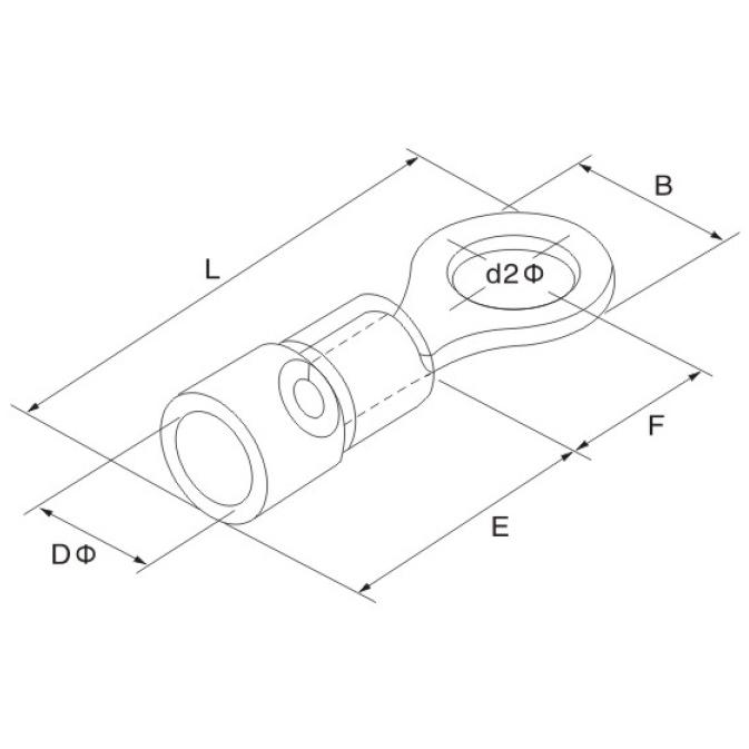 Ring Terminal 15 25mm M8 Iso 25 Pcs 14019