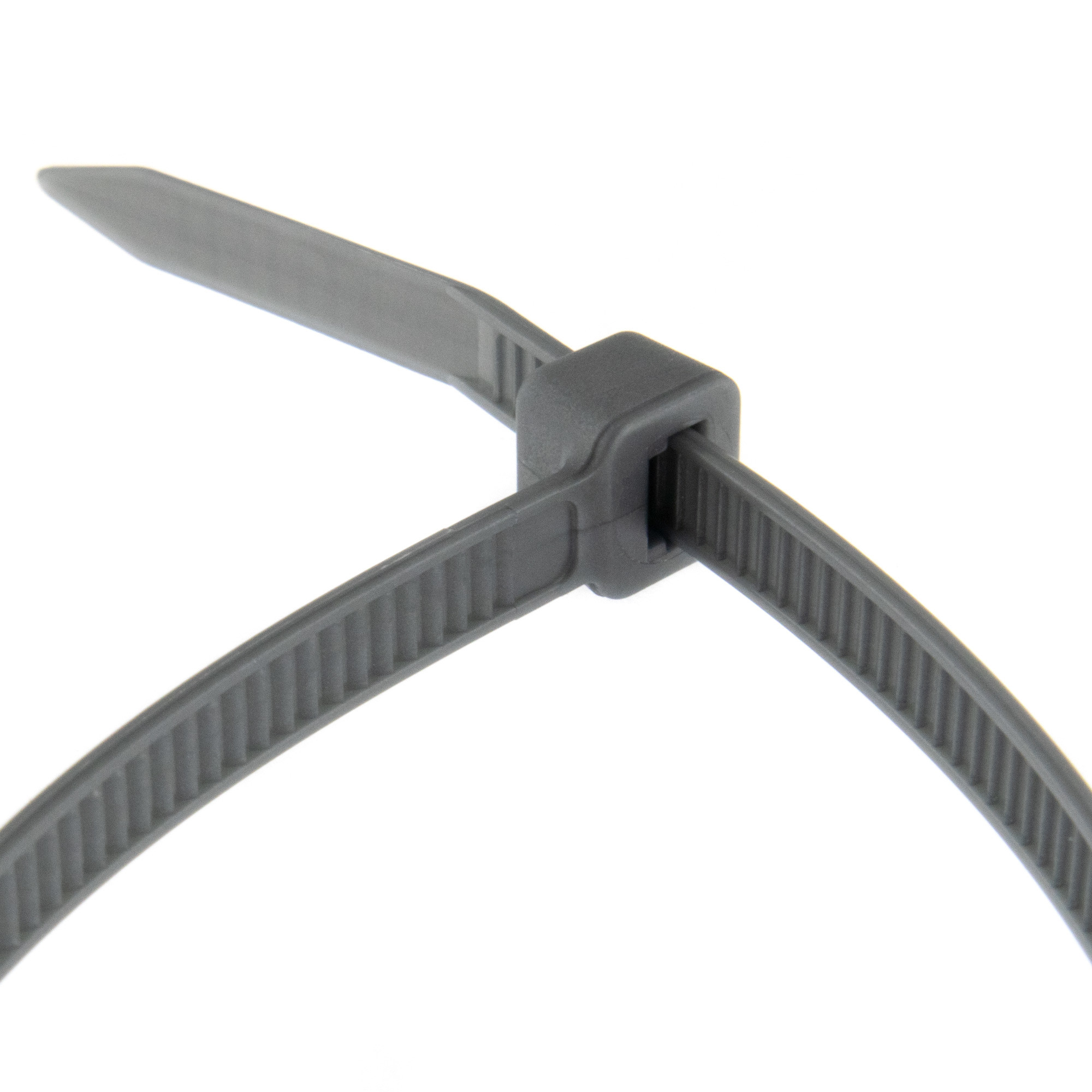 Cable tie self-locking 200 x 4,8mm, silver, 100PCS