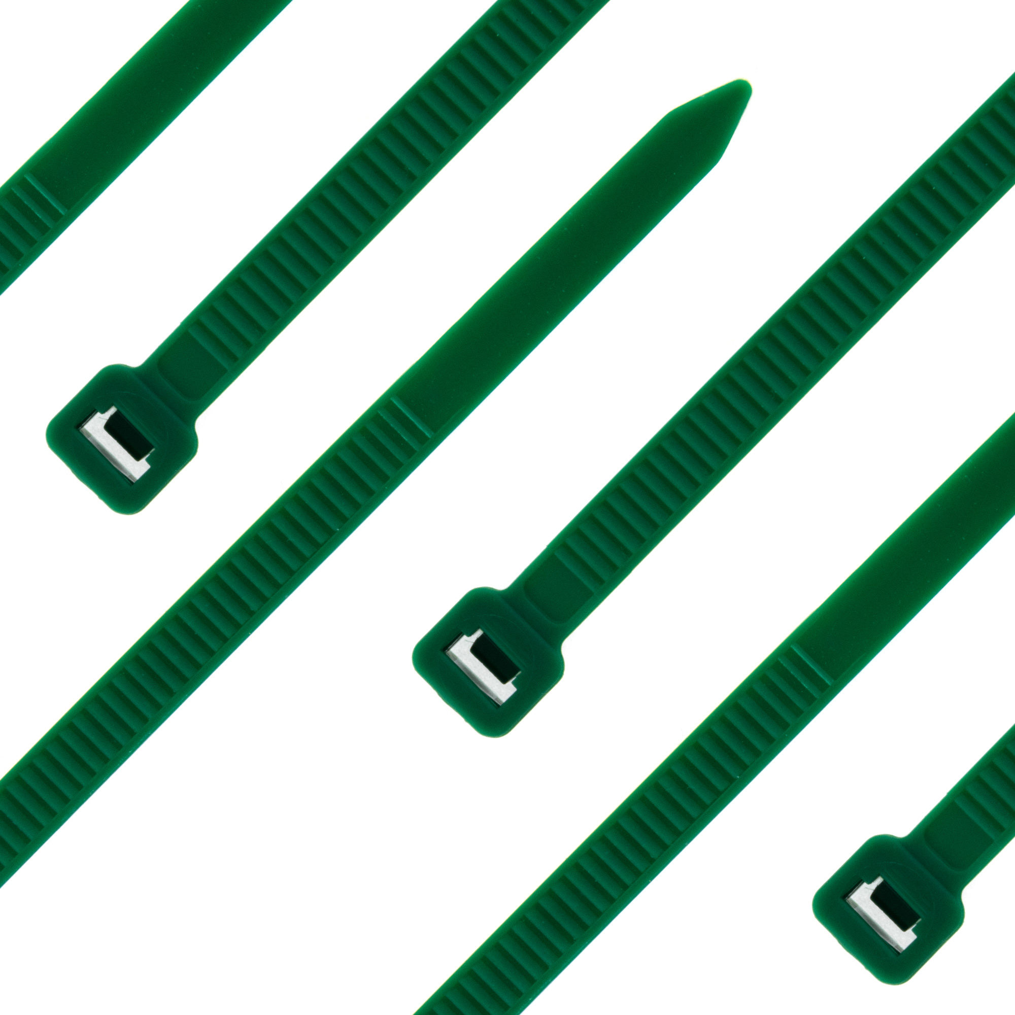 Cable tie self-locking 300 x 4,8mm, green, 100PCS