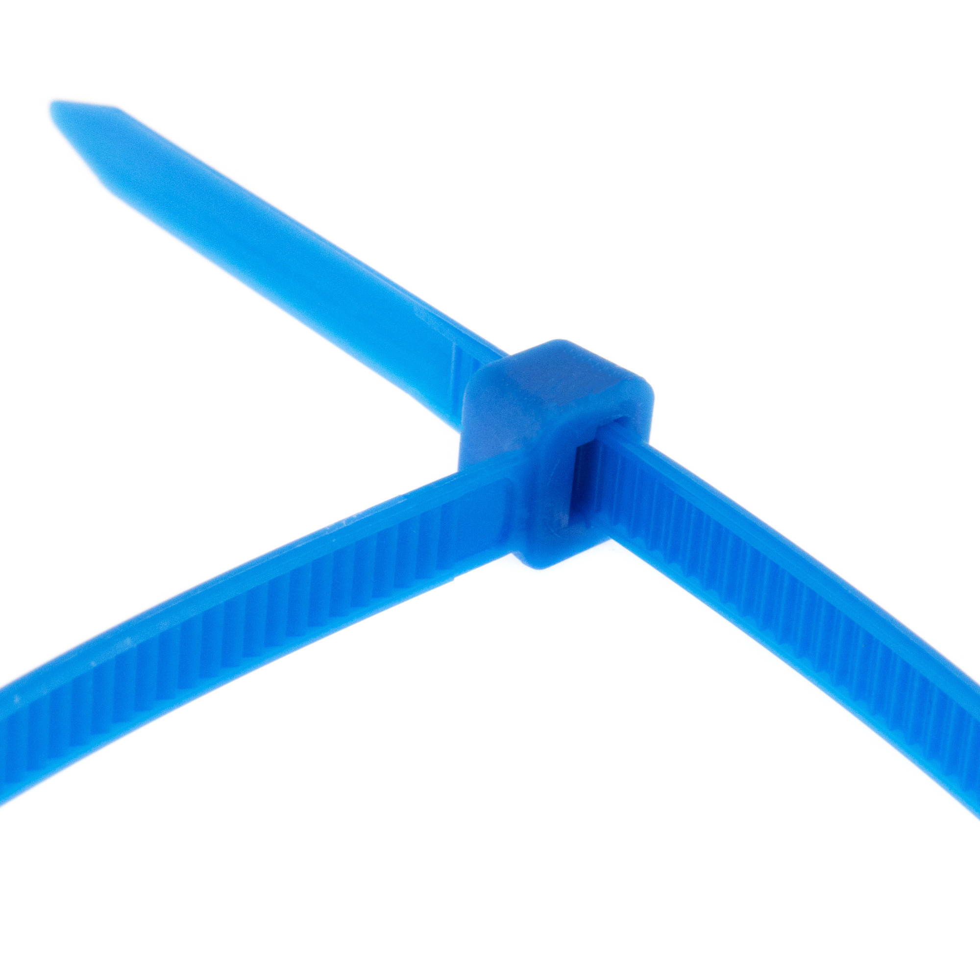 Cable tie self-locking 380 x 4,8mm, blue, 100PCS