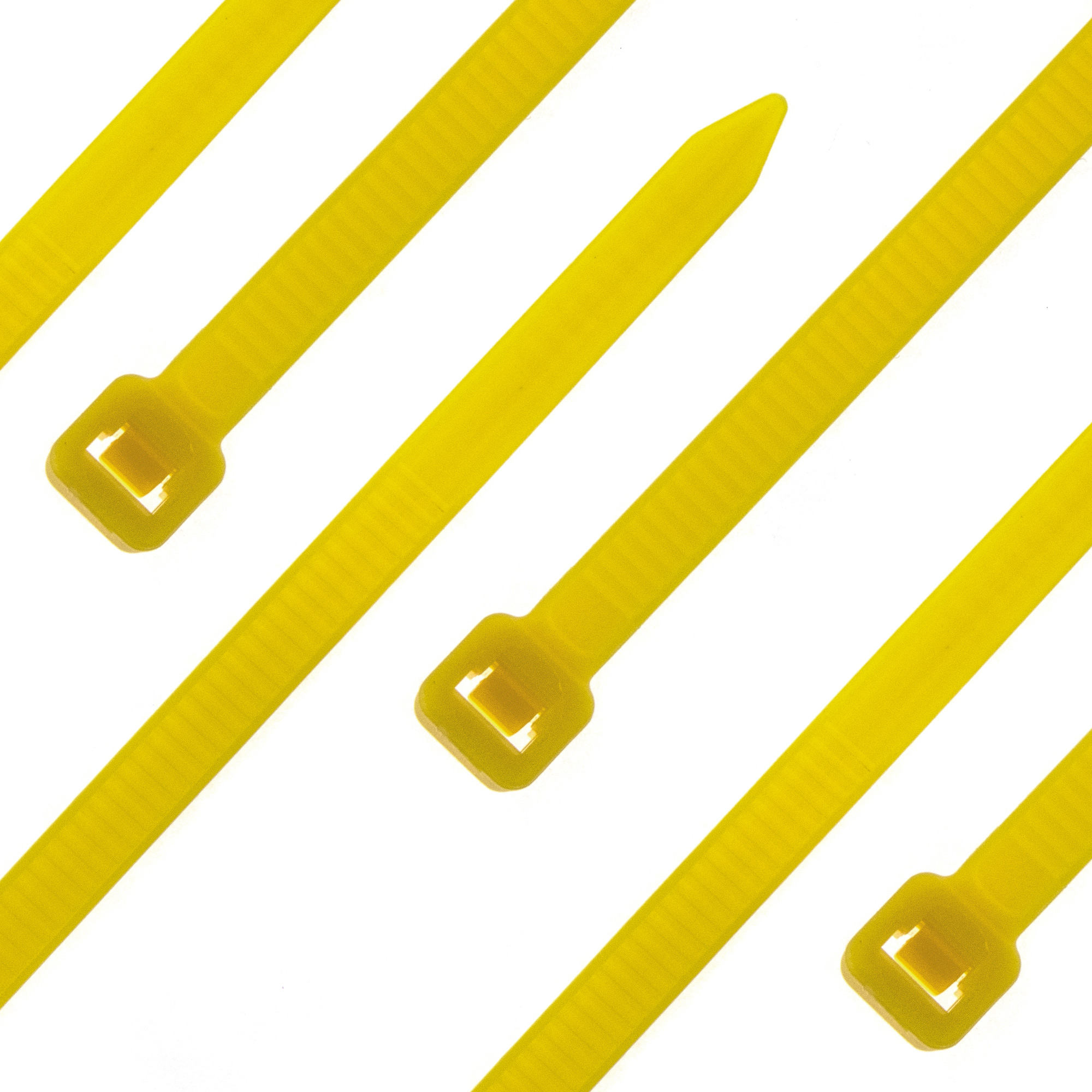 Cable tie self-locking 380 x 4,8mm, yellow, 100PCS