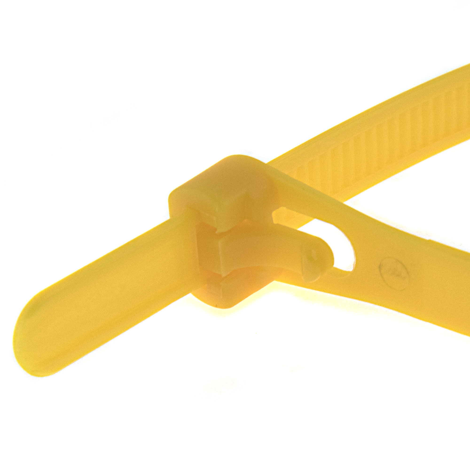Cable tie re-use-able 250 x 7,6mm, yellow, 100PCS