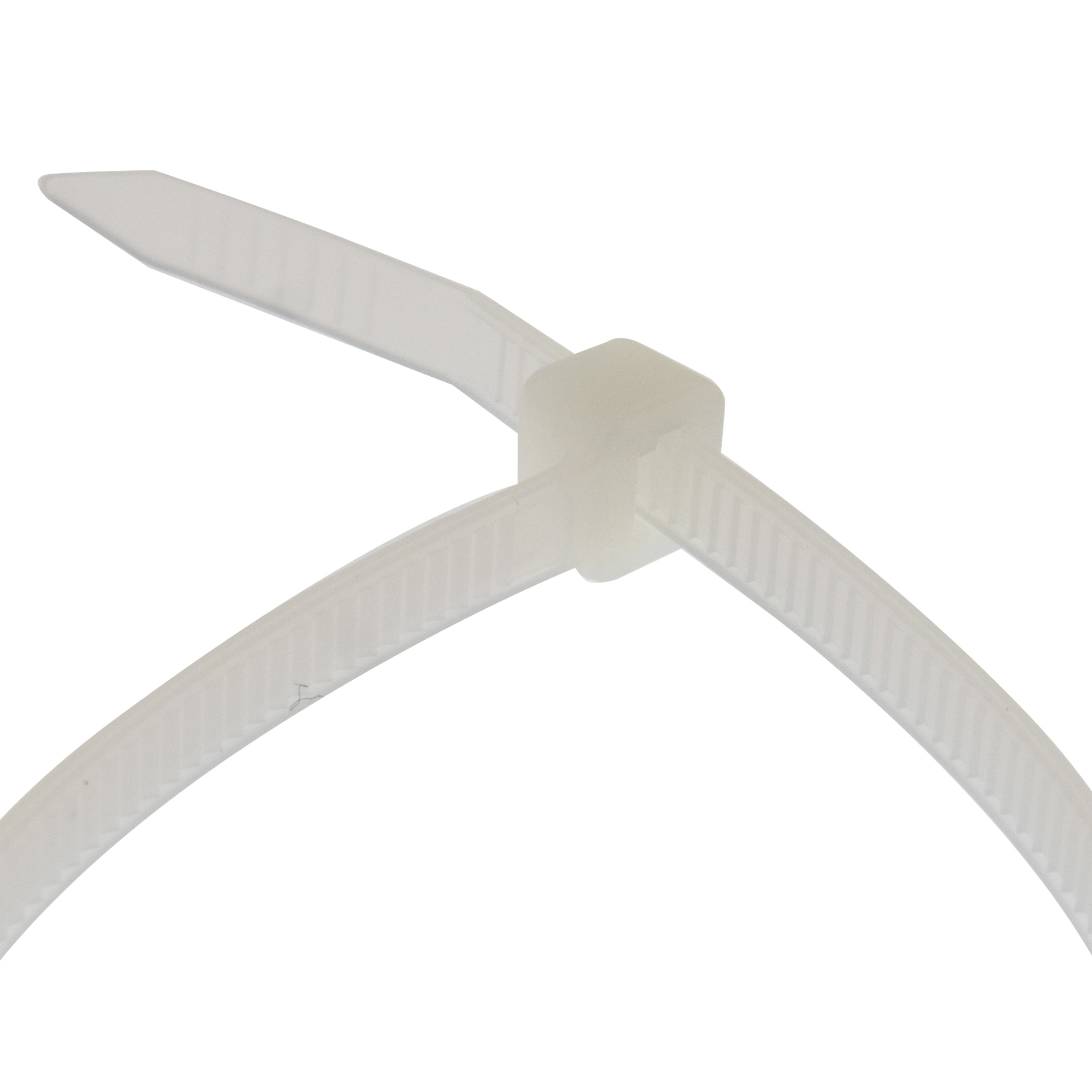 Cable tie self-locking 250 x 2,5mm, white, 100PCS