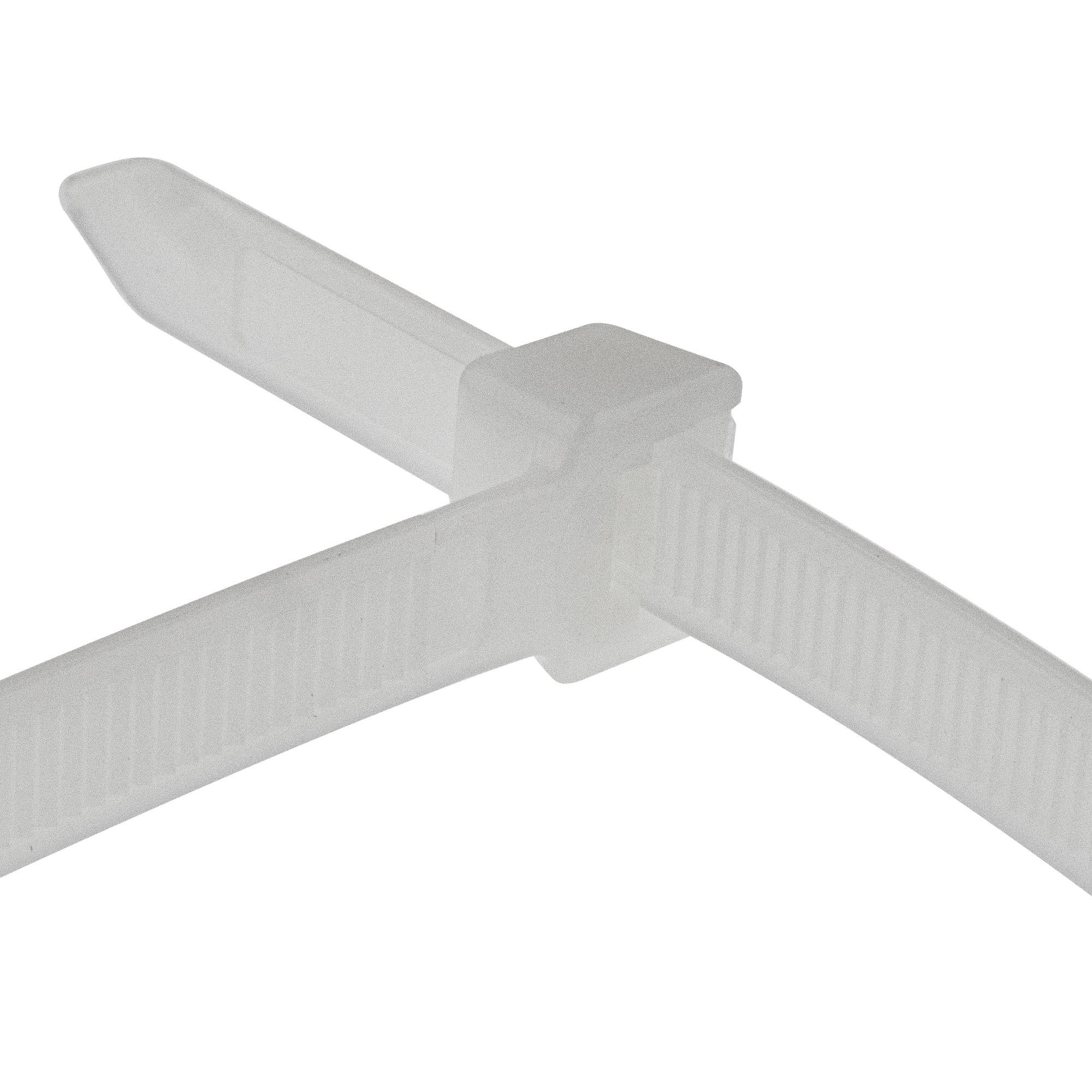 Cable tie self-locking 550 x 7,6mm, white, 100PCS