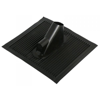 Roof tile aluminium black incl. cable opening