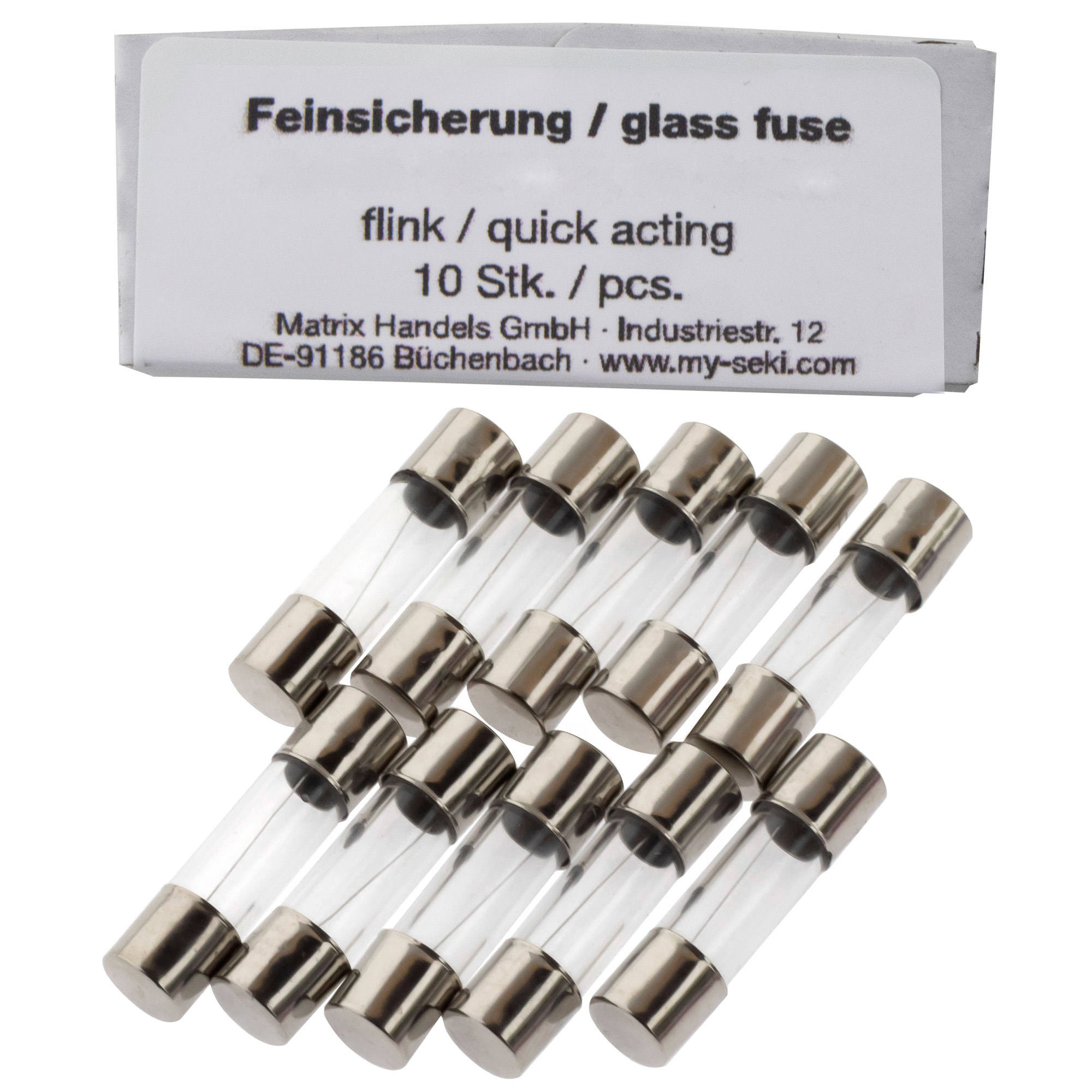 Fuse 2,0A, 5x20mm, quick acting