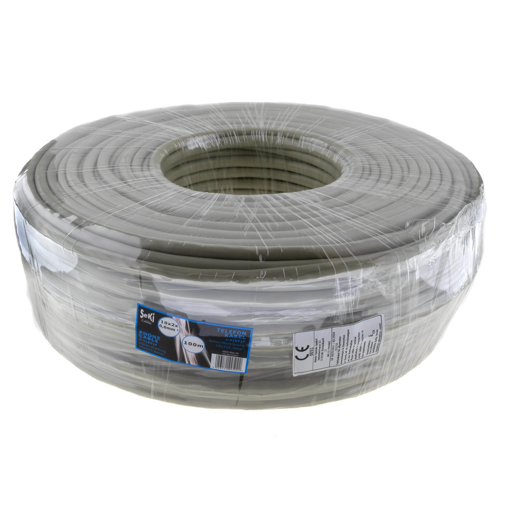 Phone cable 10x2x0,6mm 100m
