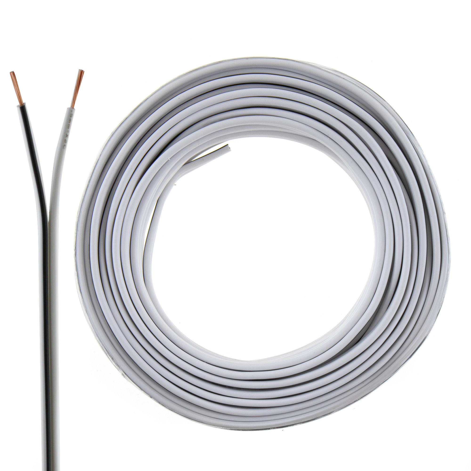 Loudspeaker cable white 10m 0.50mm