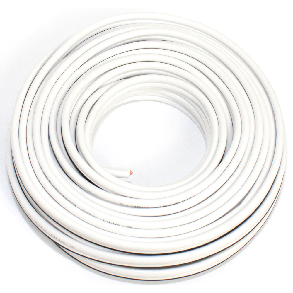 Loudspeaker cable white 10m 2.50mm