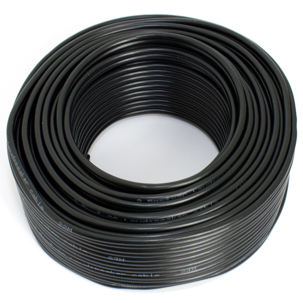 Loudspeaker cable black 25m 2.50mm