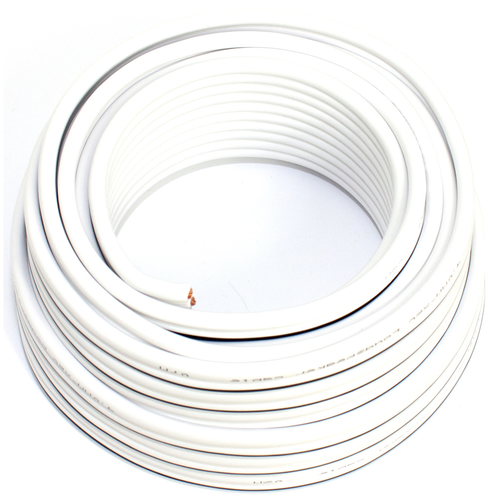 Loudspeaker cable white 10m 4.00mm