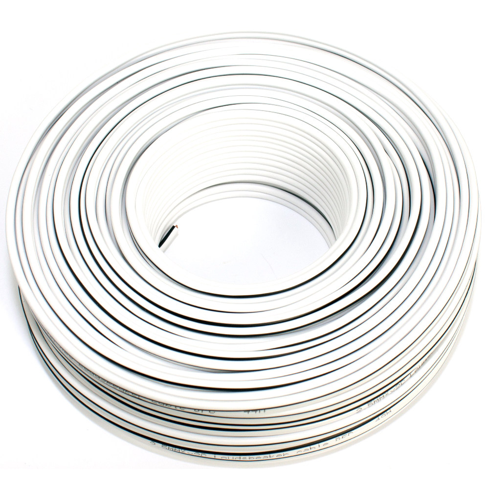 Loudspeaker cable white 50m 2.50mm OFC
