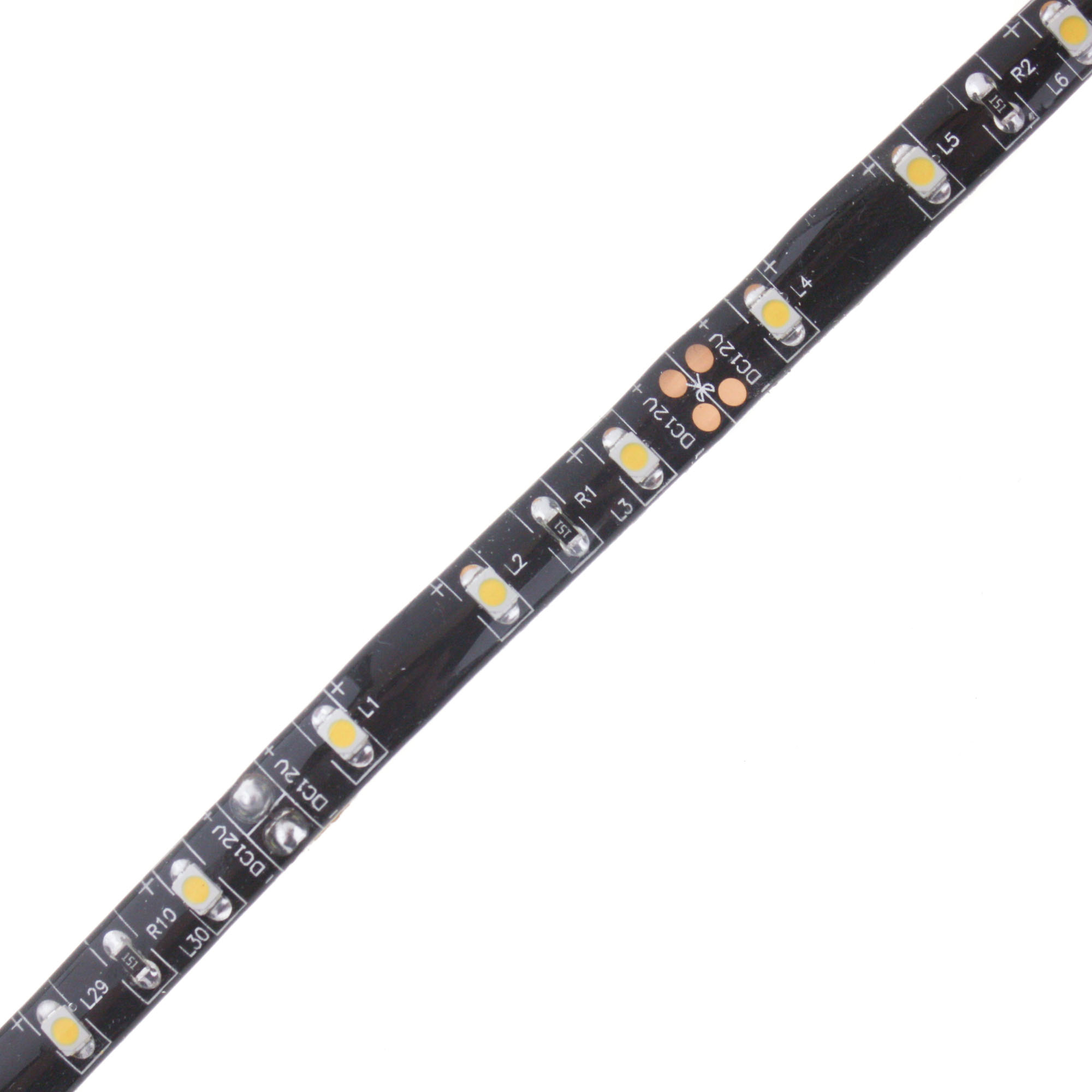 LED stripe 12V, 30cm, BPCB, 60LEDs/m, IP65 - yellow