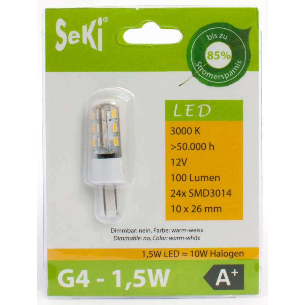LED Lampe G4, 1,5W, warmweiss