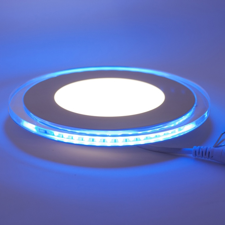 LED Downlight illuminated blue, 10W, warmwhite