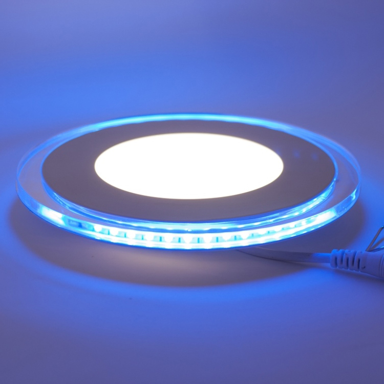 LED Downlight illuminated blue, 10W, purewhite