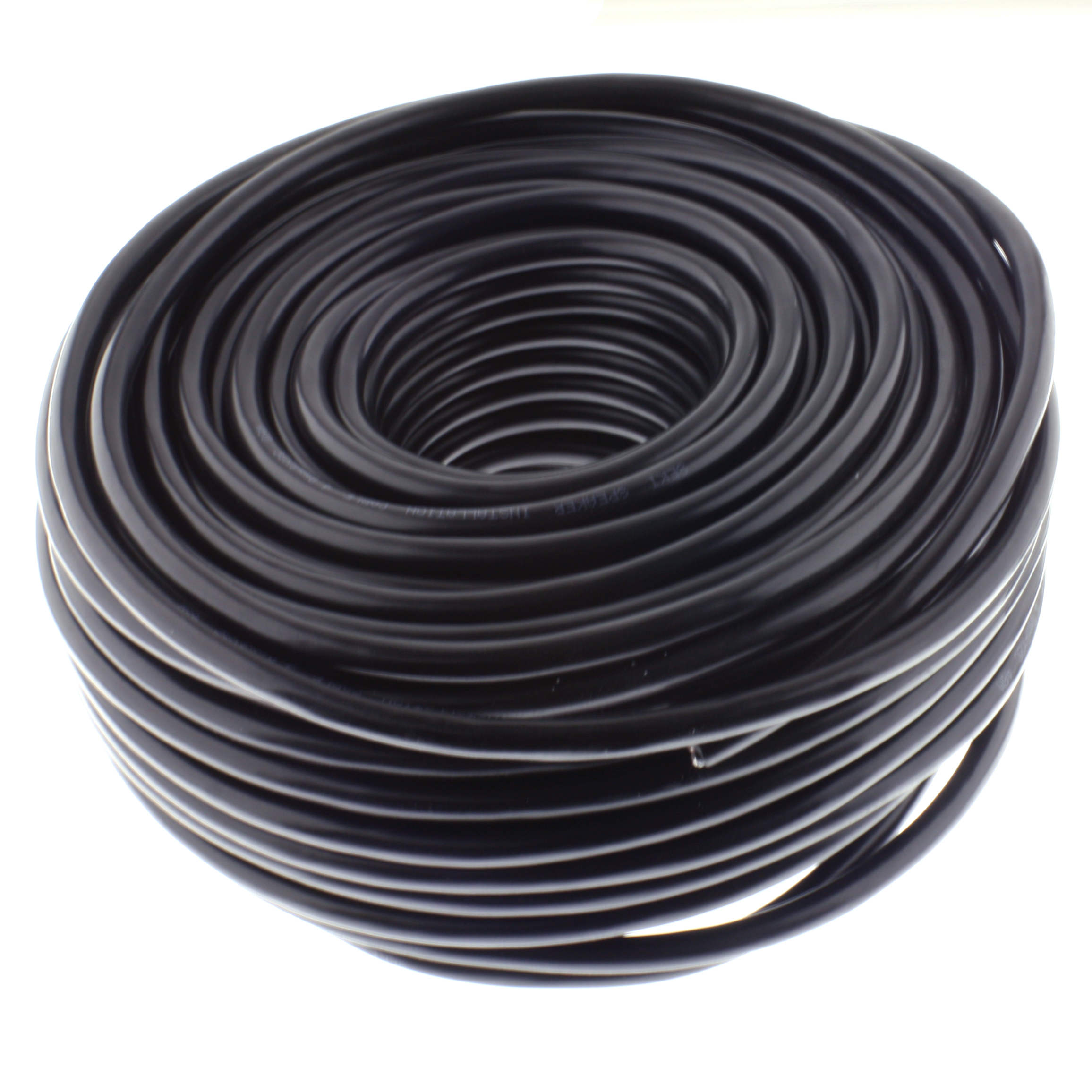 Loudspeaker cable ROUND 4,00mm, CCA, 50M, black