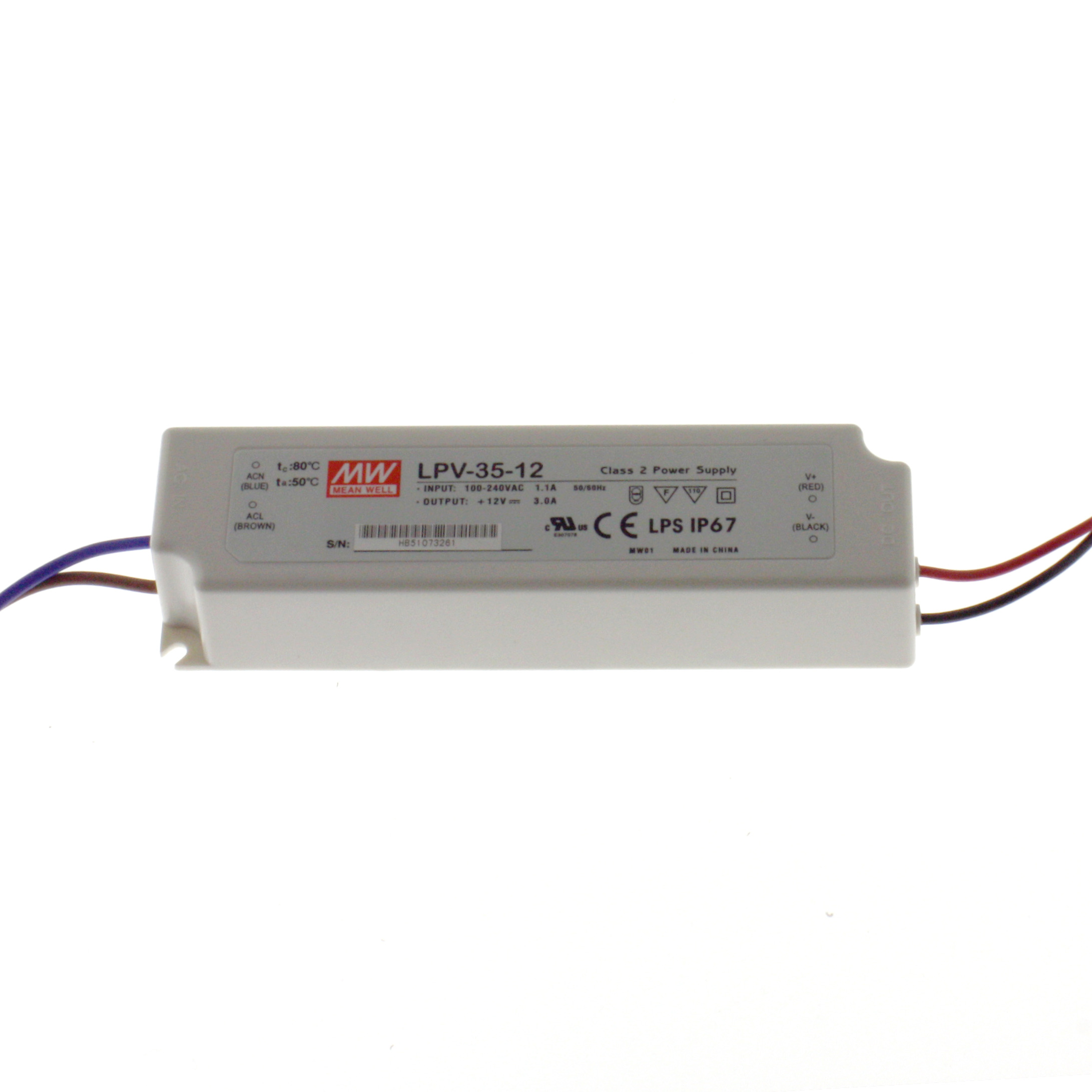 LED Power Supply LPV-35-12 3A 12V