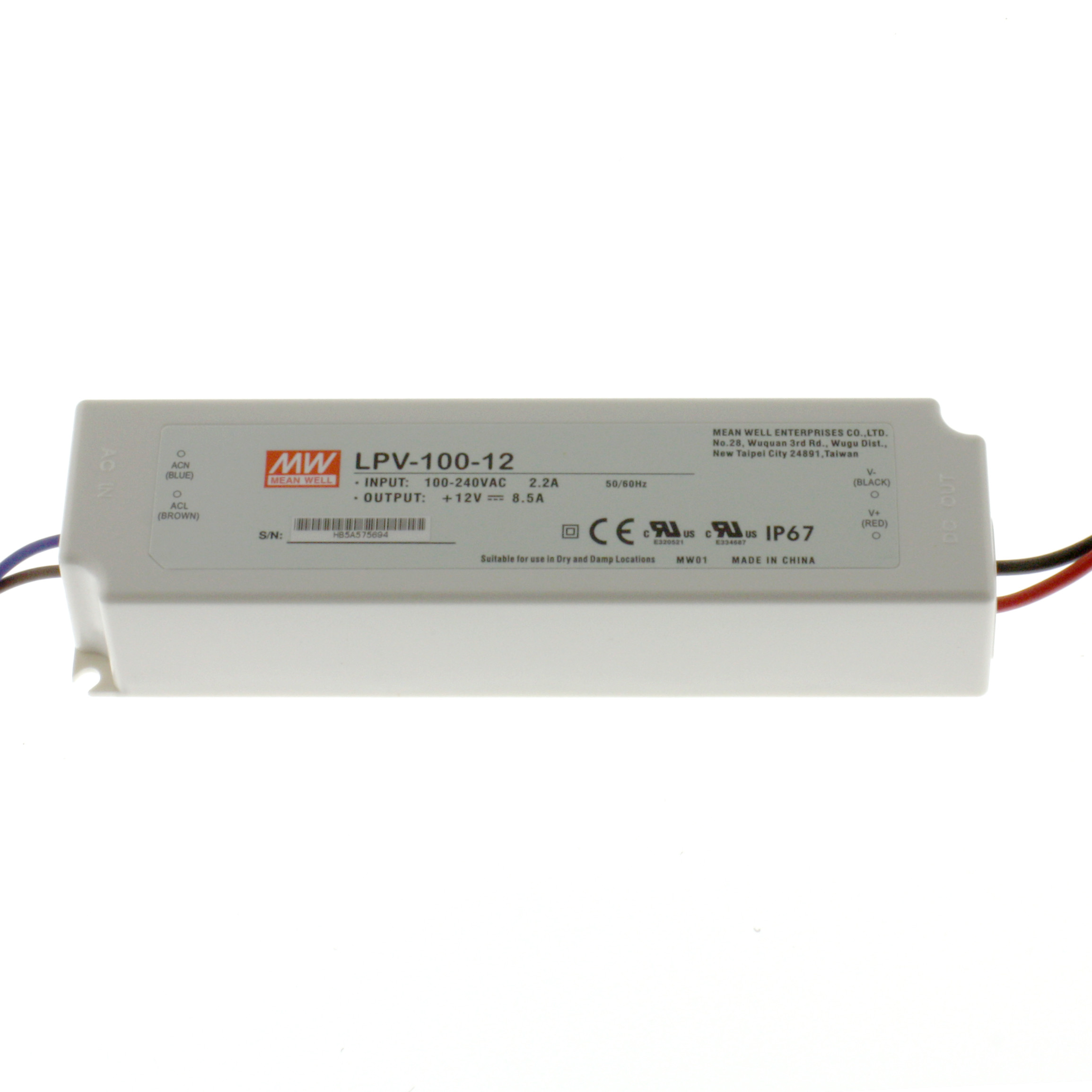 LED Power Supply LPV-100-12 8,5A 12V