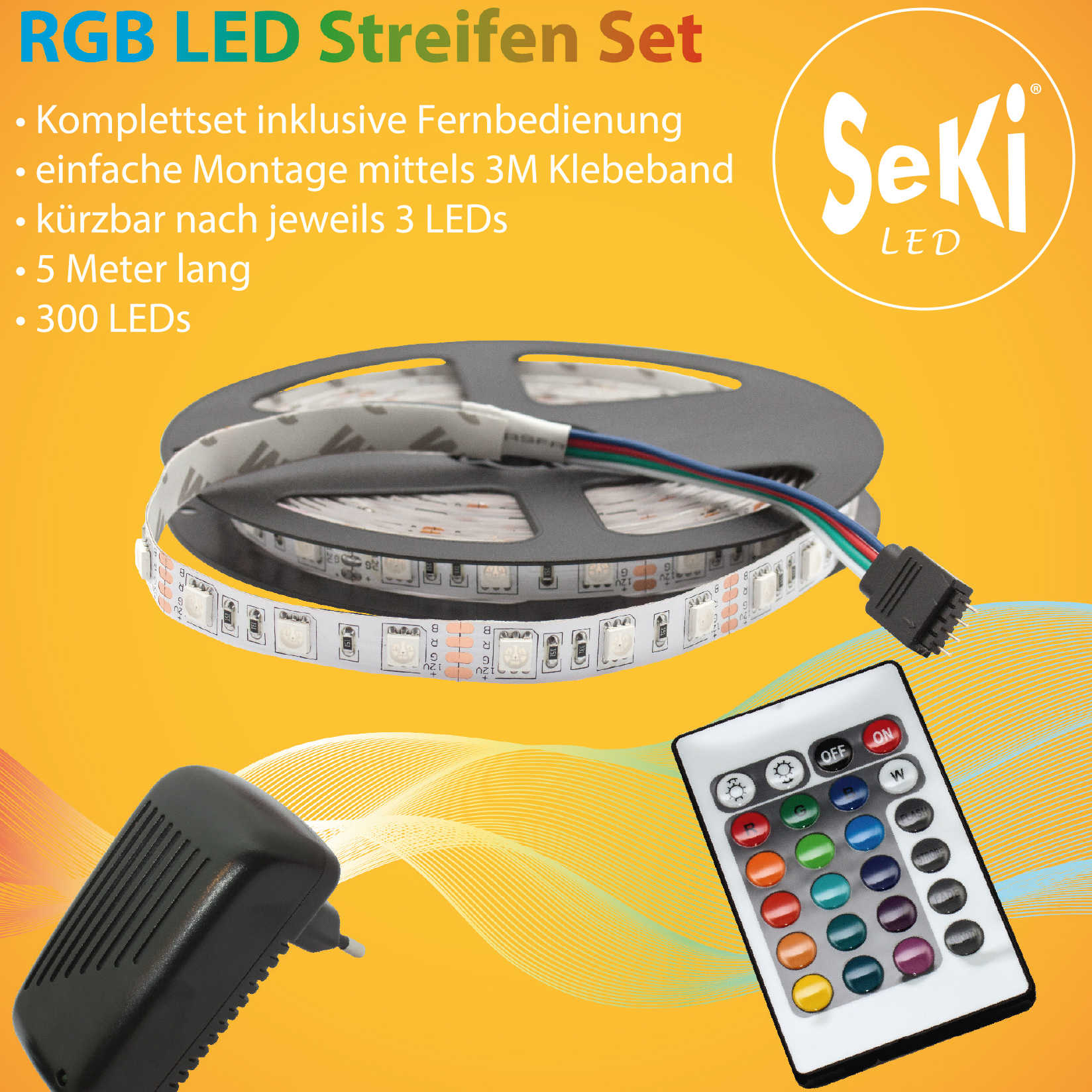 LED RGB Set 2 (RGB 300LEDs, Controller, Power Supply)