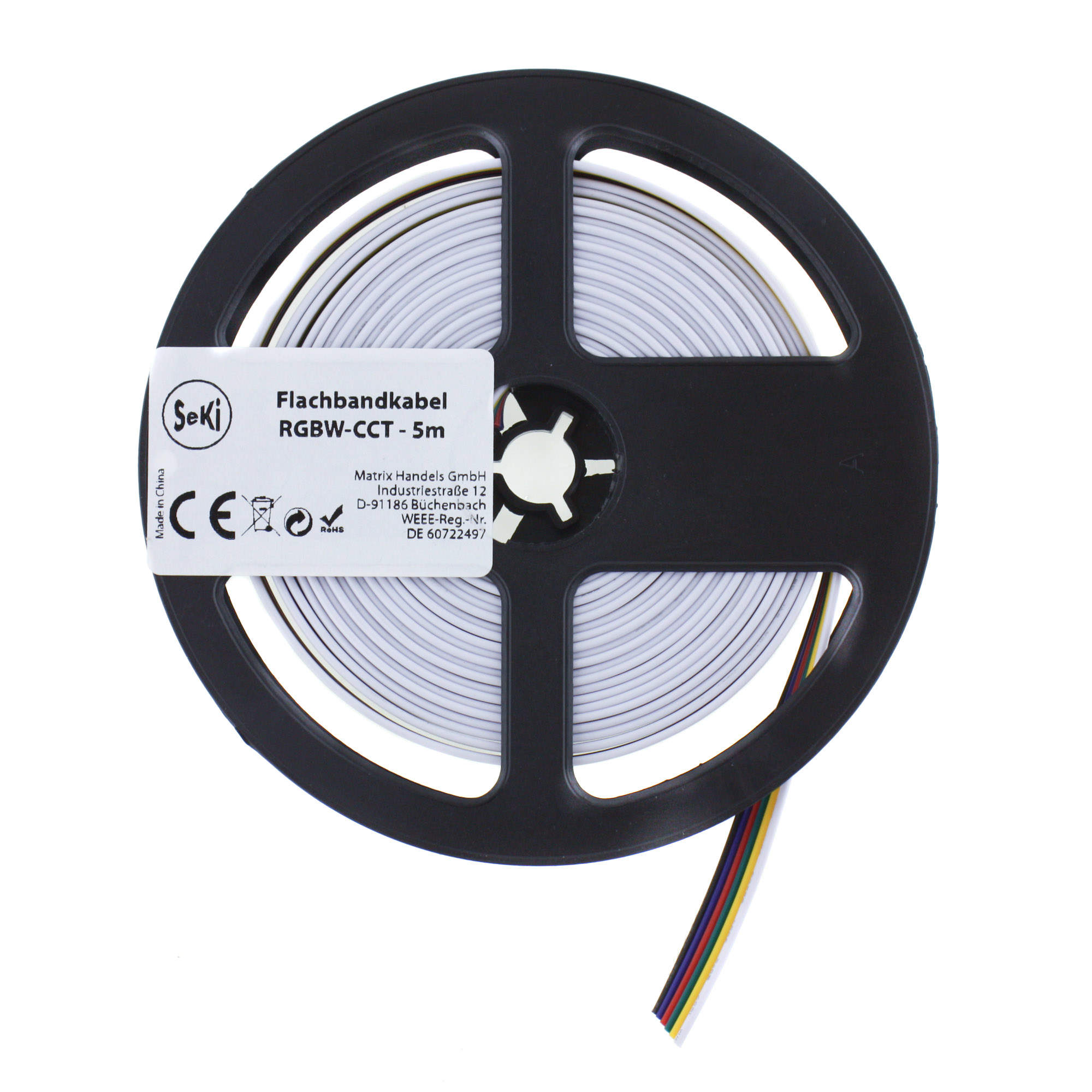 RGBW + CCT connection wire - 5 meter