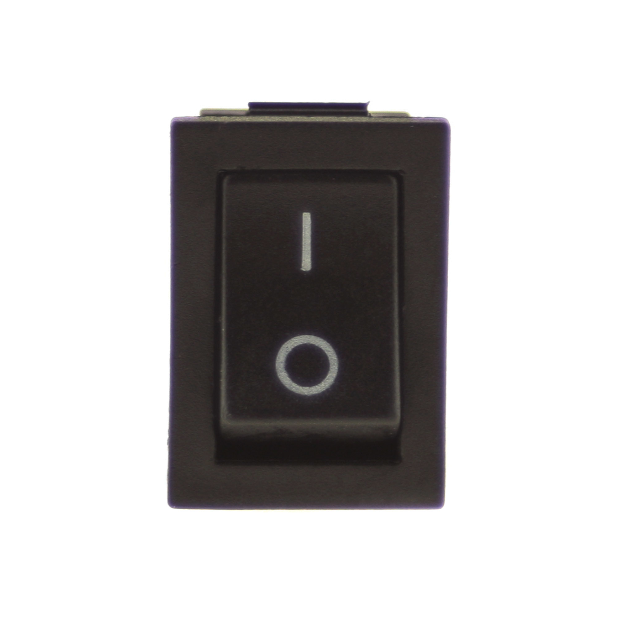 Switch I-0 250V 3A, 21x15mm, black